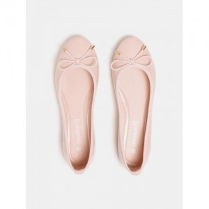 Dressberry Pink Synthetic Slip-on Casual Belly Shoes