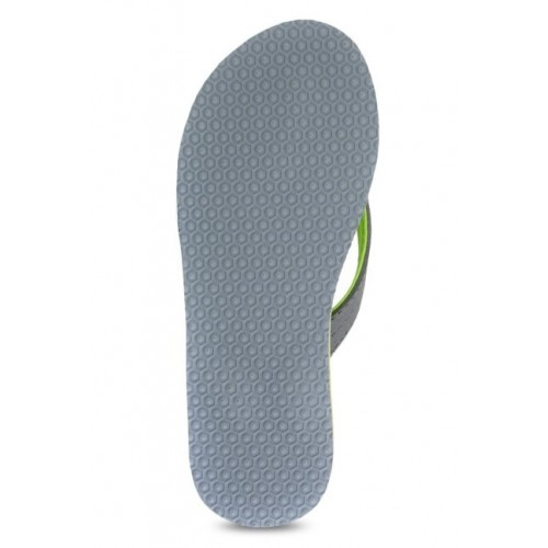 Sparx Grey & Fluorescent Green Flip Flops