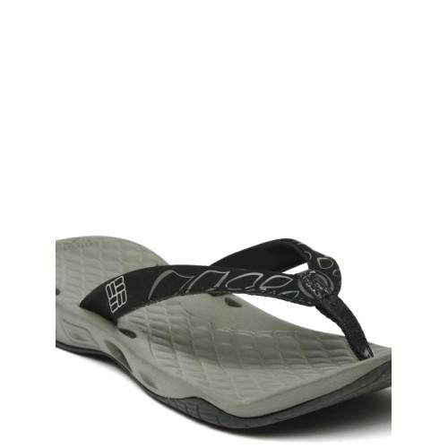 Columbia Women Black & Grey Sunbreeze Vent Printed Flip-Flops