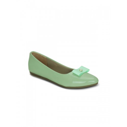 Get Glamr Green Belly Shoes
