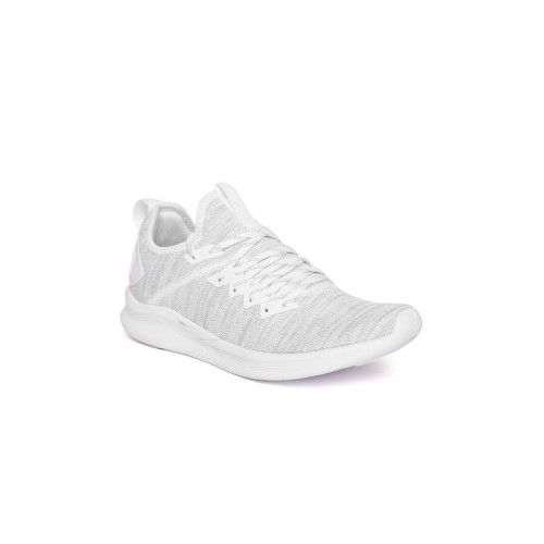Puma Women Grey Melange Ignite Flash evoKNIT Running Shoes