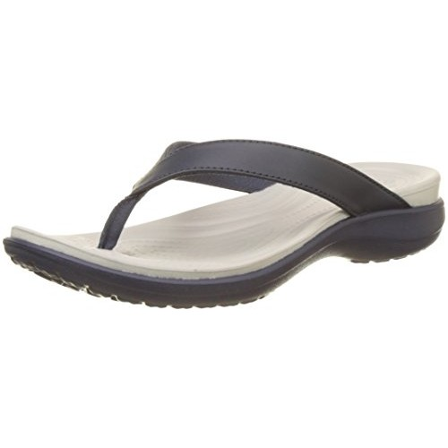 Crocs Navy Blue Rubber Casual Flip-Flops