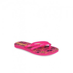 Ipanema Pink & Yellow Flip Flops