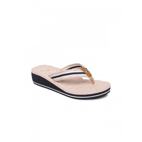 b9c3118ec0a64c Buy Tommy Hilfiger Women Pink Striped Wedges online