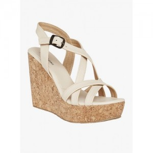 Marc Loire Golden Polyurethane Wedges Sandals