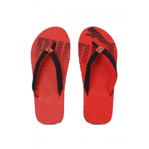 Buy Puma Unisex Red   Black Miami 6 DP Printed Thong Flip-Flops ... c623ab15b