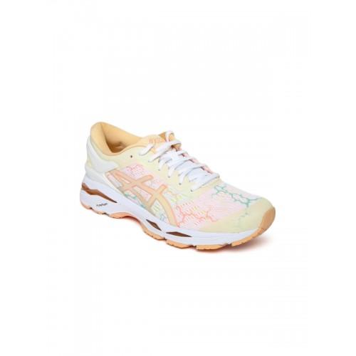 44795614da4d2 Buy ASICS Women White GEL-KAYANO 24 LITE-SHOW Running Shoes online ...