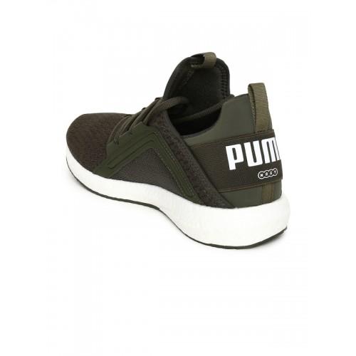 a606aa31523e52 Buy Puma Women Olive Green Mega NRGY Wn s Sports Running Shoes ...