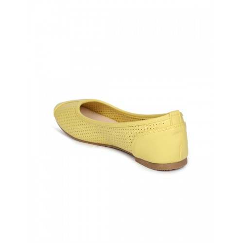d2b2e574a Buy Lavie Women Yellow Perforated Ballerinas online | Looksgud.in