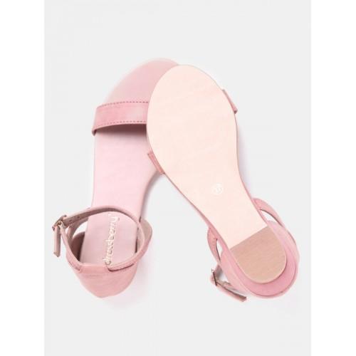 DressBerry Women Dusty Pink Solid Flats