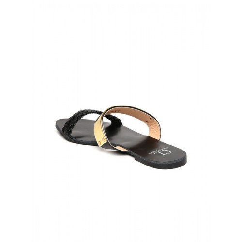 Carlton London Black Sandals