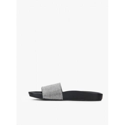 Steve Madden Black Sliders Sandals