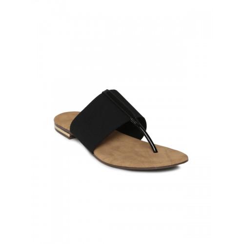 de28929c5ccafd Buy Inc 5 Women Black Solid T-Strap Flats online