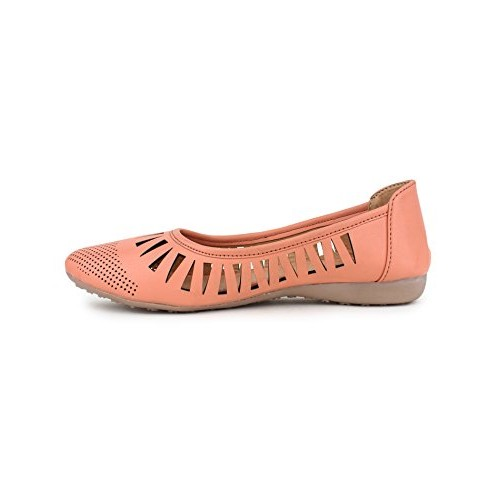 YAHE Women's Shine Napa Leather Casual Belly Shoe Y-35