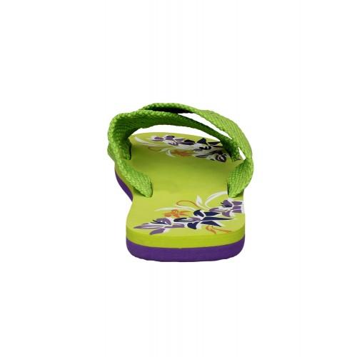 Firemark green rubber flip flop