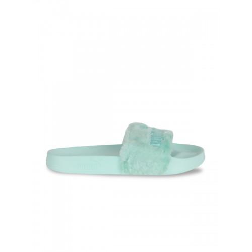 8f24a53d3 Buy Puma Women Green Solid Thong Flip-Flops online