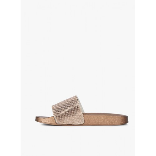 Carlton London Rose Gold Sliders Sandals