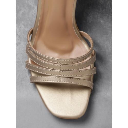 Anouk Women Gold-Toned Solid Heels