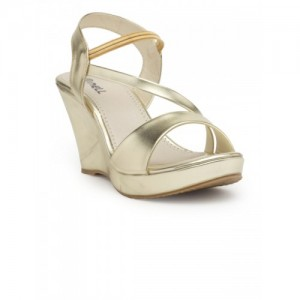 Nell Women Gold-Toned Solid Sandals