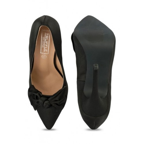 Truffle Collection Women's Black Synthetic Pumps