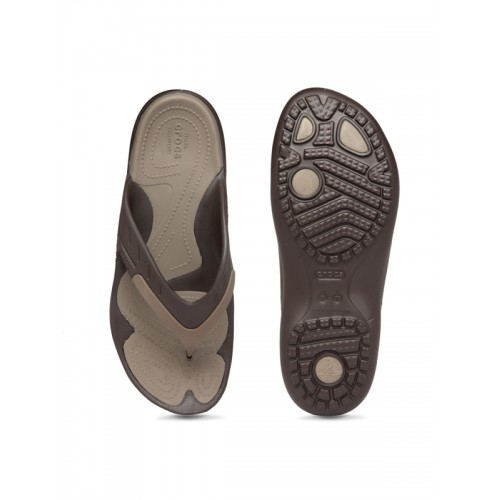 Crocs Women Brown Colourblocked Flip Flops