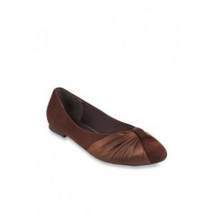 Mochi Dark Brown Flat Ballets