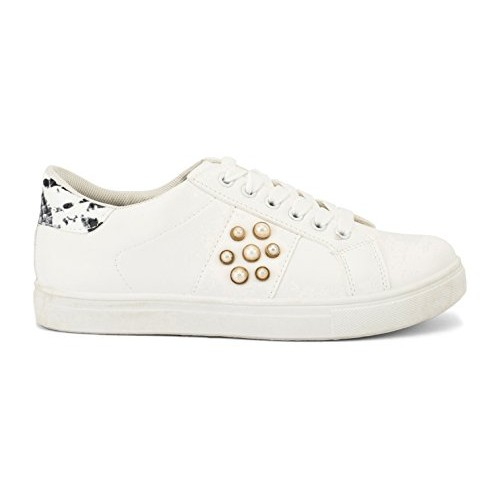 Truffle Collection Women's White Synthetic Sneakers