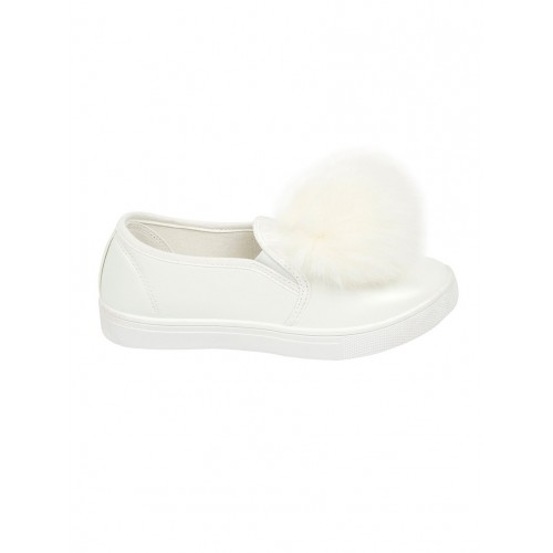 Truffle Collection white pvc slip on casual shoes