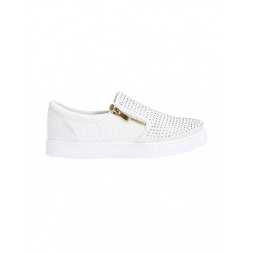 Truffle Collection white pu plimsolls casual shoes
