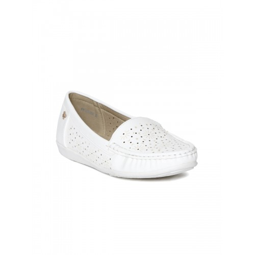 Addons white tpr slip on loafers