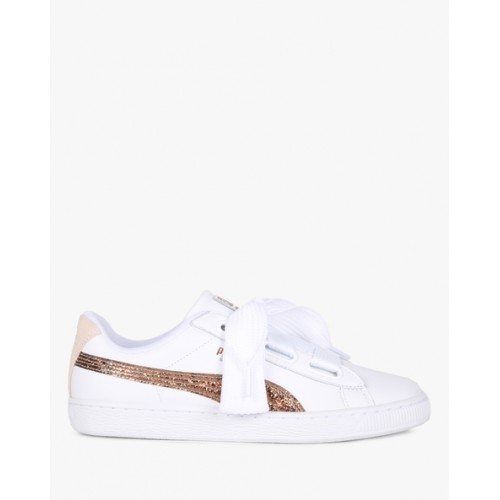 new arrival e29bf 19904 Buy Puma Basket Heart Glitter Sneakers online | Looksgud.in