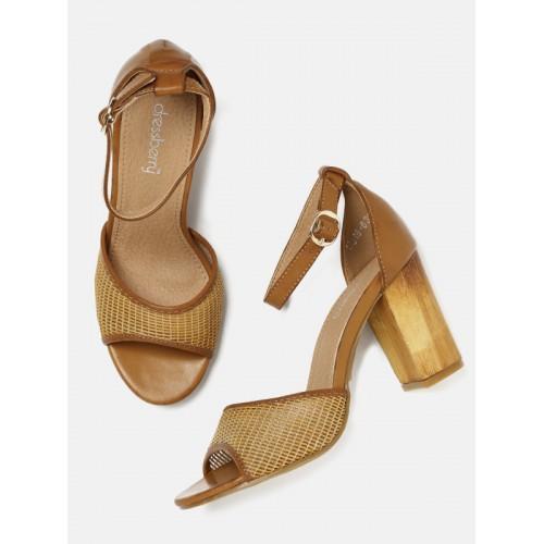 6b63a1fe2ac Buy DressBerry Women Brown Solid Block Heels online