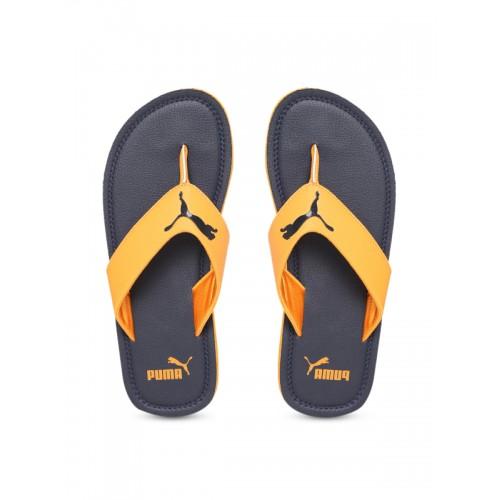 Buy Puma Unisex Blue   Yellow Printed Thong Flip-Flops online ... 164421c9c