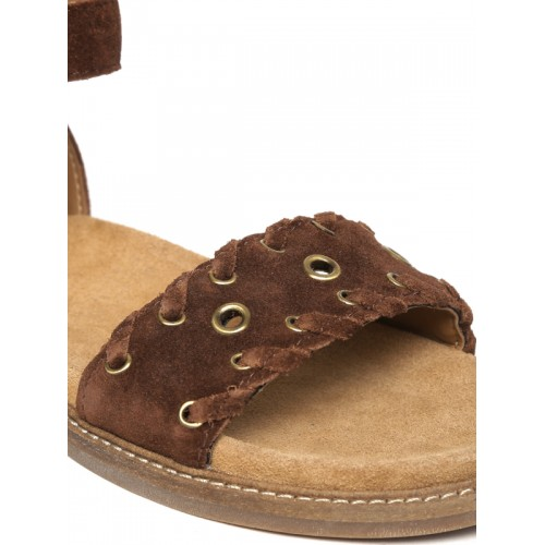 Clarks Corsio Amelia Brown Ankle Strap Sandals