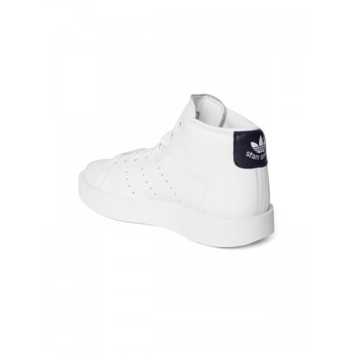 reputable site 966a8 05051 Buy Adidas Originals Women White Stan Smith Bold Mid ...