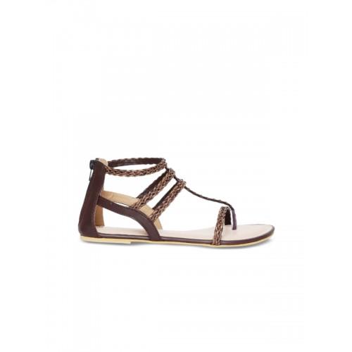 0383799c3f4 Buy Marc Loire Women Brown Solid Synthetic Gladiators online ...
