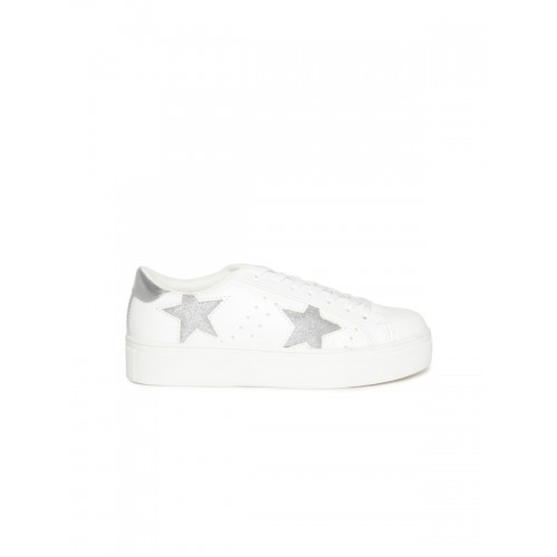 751c7e970ea ... Madden Girl by Steve Madden Women Off-White Perforated Star-Shaped  Patterned Sneakers ...