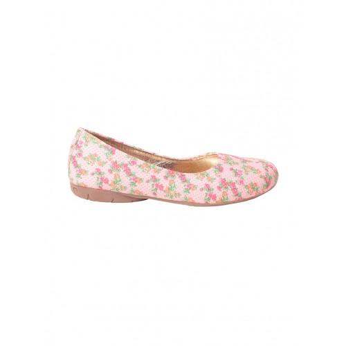 MSC pink faux leather slip on ballerina