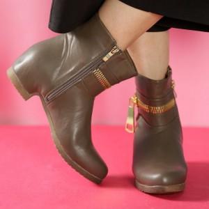 TEN Ravishing Womens Khaki Mid Length Boots