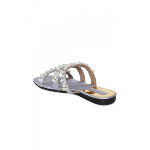 Catwalk Grey Embelished Sandals