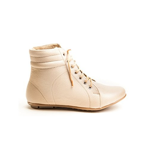 Marc Loire Women's Voyager Gal Cream High Tops Lace -Up Boots