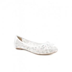 Carlton London White Flat Ballets