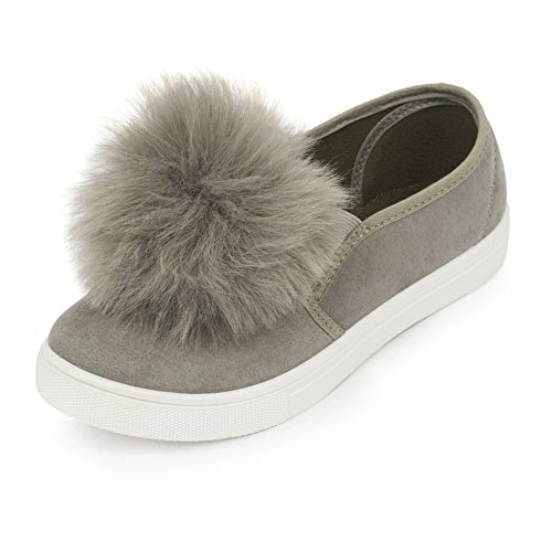 Truffle Collection Women's Grey Synthetic Sneakers