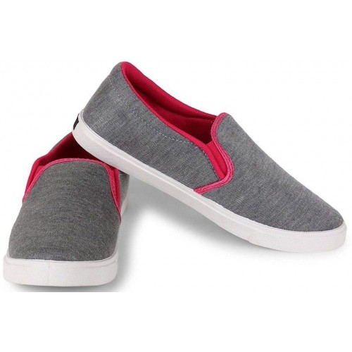 Clymb Pari Grey Pink Loafers For Women In Various Sizes