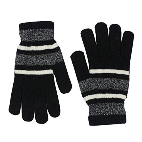Romano Women Wool Black Winter Gloves