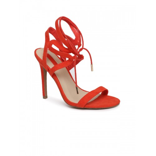 cf7acd955e8 Buy FOREVER 21 Women Red Solid Stilettos online   Looksgud.in