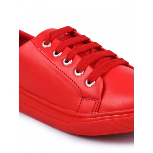 Shoetopia Women Red Sneakers