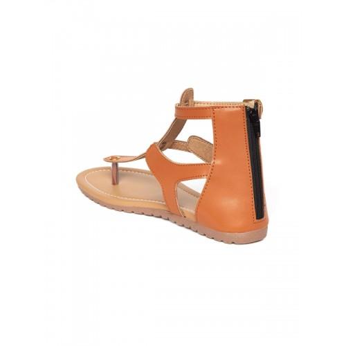 589649eecd0 Buy Marc Loire Women Tan Brown Solid Gladiators online