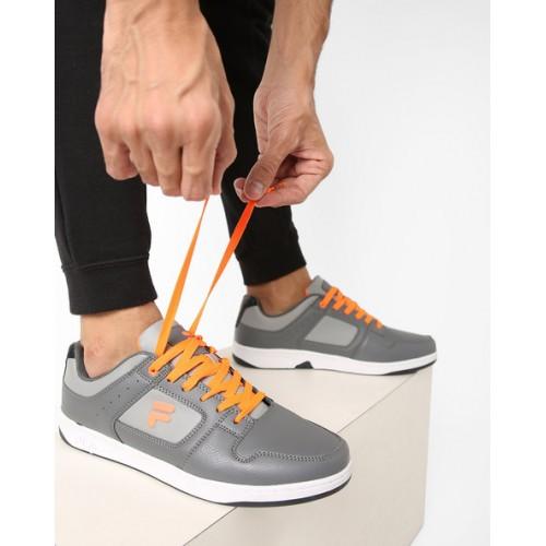 ef082a63b2421 Buy Fila Flicker Dark Grey Sneakers online | Looksgud.in