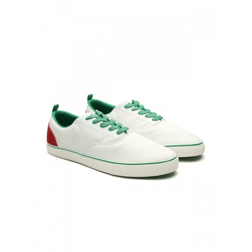 UNITED COLORS OF BENETTON Panelled Canvas Casual Shoes